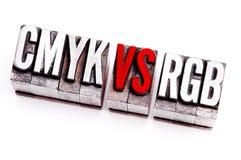 CMYK contra el RGB Fotografía de archivo
