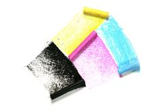 Cmyk crayons Royalty Free Stock Photos