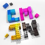 CMYK creative colors Stock Photography