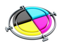 CMYK cross Royalty Free Stock Photography