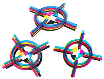 CMYK crosses. Stock Photography