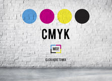CMYK Cyan Magenta Yellow Key Color Printing Process Concept stock photo