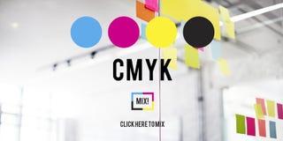 CMYK Cyan Magenta Yellow Key Color Printing Process Concept stock images