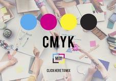 CMYK Cyan Magenta Yellow Key Color Printing Process Concept Royalty Free Stock Photos