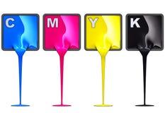 cmyk 3d colors hdrreflexion framför Royaltyfria Bilder