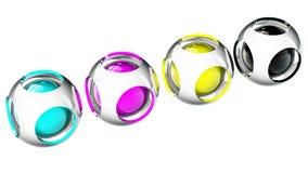 Cmyk das esferas Foto de Stock Royalty Free