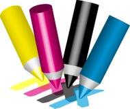 Cmyk de crayon Photos stock