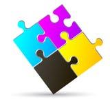Cmyk de puzzle Image libre de droits