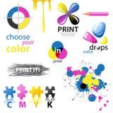 CMYK design elements Stock Photography