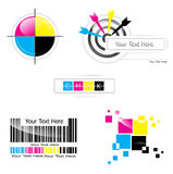CMYK design set Royalty Free Stock Image