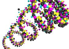 CMYK Dots royalty free stock photography