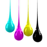 CMYK drops Royalty Free Stock Photography