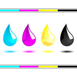 CMYK drops Stock Photos