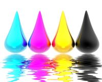 CMYK drops Royalty Free Stock Photo