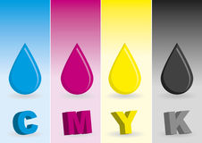 CMYK drops Royalty Free Stock Photos