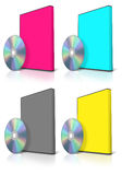 CMYK DVD and DVD Case Stock Photography