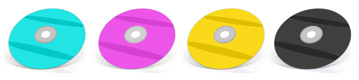 CMYK DVD Stock Photos