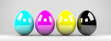CMYK easter eggs background Stock Image