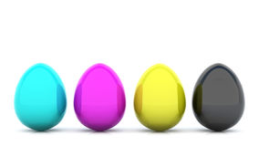 CMYK Eggs Stock Image