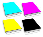 CMYK empty book template Royalty Free Stock Images