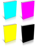 CMYK empty book template Stock Photo