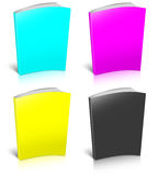 CMYK empty book template Royalty Free Stock Photography