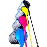 Cmyk färg stock illustrationer