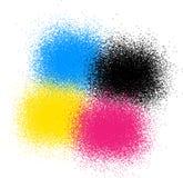 CMYK färgar stock illustrationer