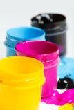 CMYK färgar Arkivfoto