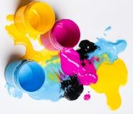 CMYK färgar Arkivbilder