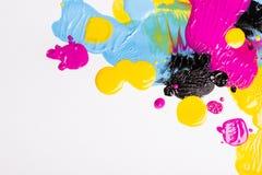 CMYK färgar Arkivfoton