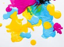 CMYK färgar Royaltyfri Fotografi