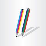 Cmyk för färgblyertspennargb Royaltyfri Fotografi