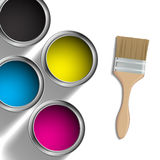 CMYK-Farbdesign lizenzfreie abbildung