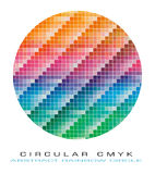 CMYK Farbenpalette für abstrakten Hintergrund Lizenzfreie Stockfotografie