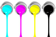 CMYK filling (3D) Royalty Free Stock Image