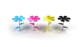Cmyk Flower Royalty Free Stock Photo