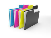 CMYK folders Stock Photography