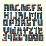 Cmyk font vector set vector illustration