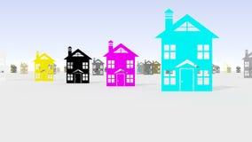 CMYK-färgmodell Arkivbild