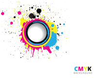 CMYK-färgstänkbakgrund Royaltyfria Foton