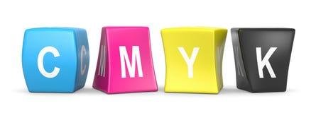CMYK Funny Cubes Royalty Free Stock Photo