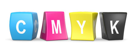 CMYK Funny Cubes Royalty Free Stock Photo
