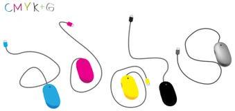 cmyk g mysz ilustracja wektor
