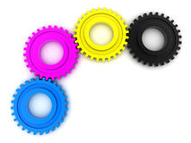 CMYK Gears Royalty Free Stock Photo