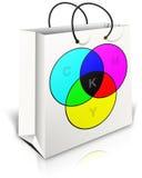 CMYK Gift Bag Royalty Free Stock Images