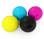 CMYK Golf Ball Royalty Free Stock Image