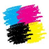 Cmyk Grunge Smears. Vector illustration for your design stock illustration
