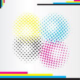 Cmyk halftone Stock Photo