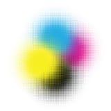 Cmyk halftone. Illustration for your artwork Stock Photos